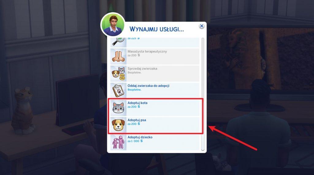 Adopcja psa w The Sims 4