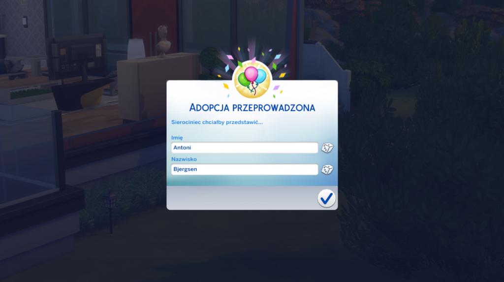 Adoptowane dziecko w The Sims 4