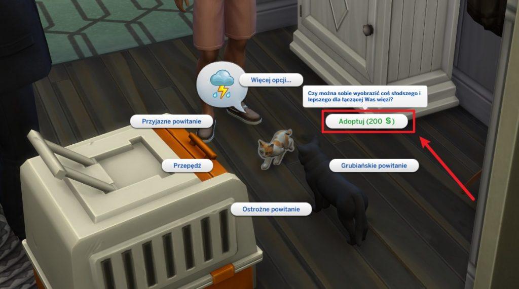 Adoptowanie psa w The Sims 4