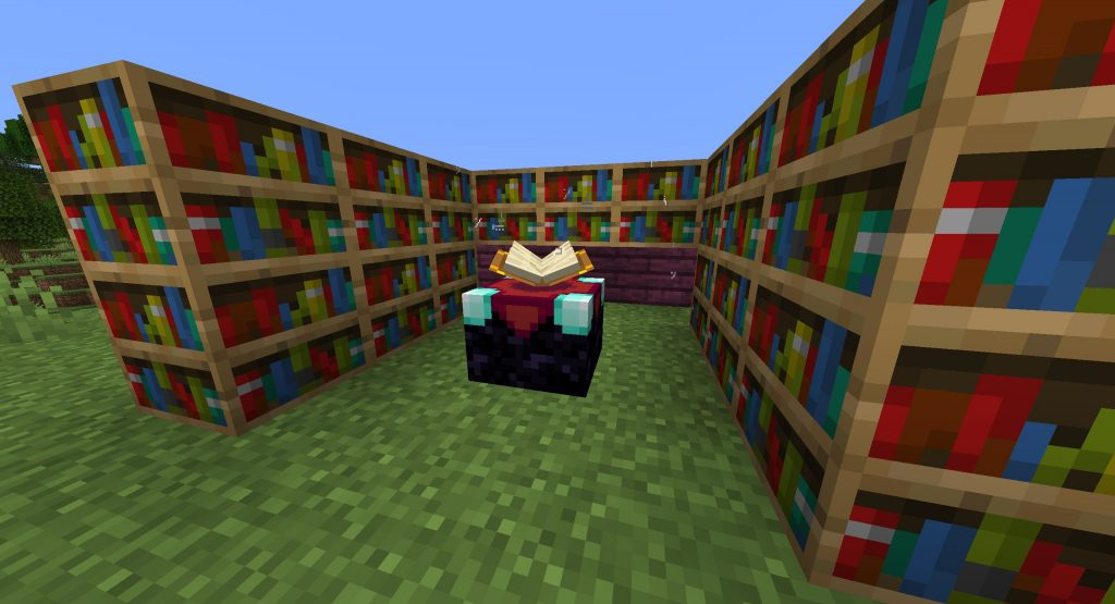 Jak ułożyć biblioteczki w Minecraft?