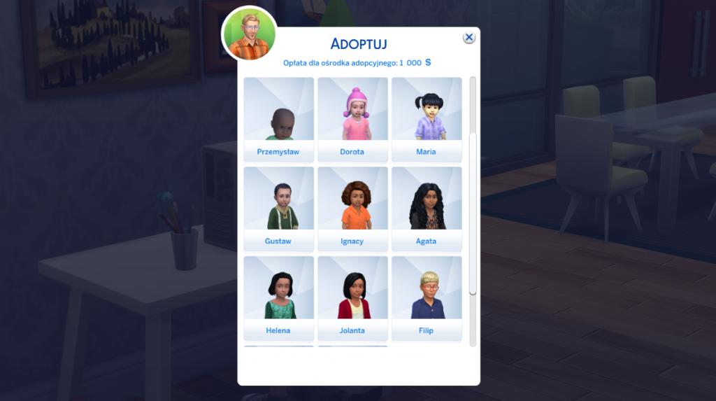 Jak zaadoptować dziecko w The Sims 4