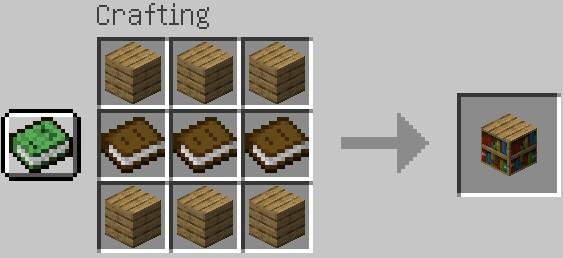 Jak zrobić biblioteczkę do wzmocnienia stołu do zaklęć Minecraft
