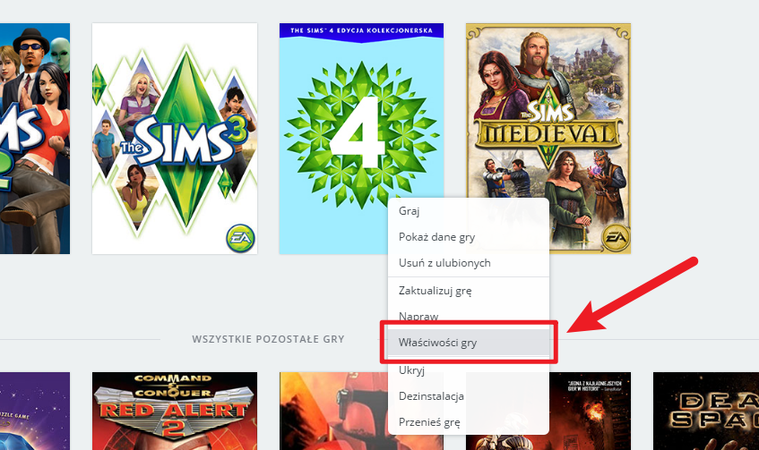 Język polski w The Sims 4