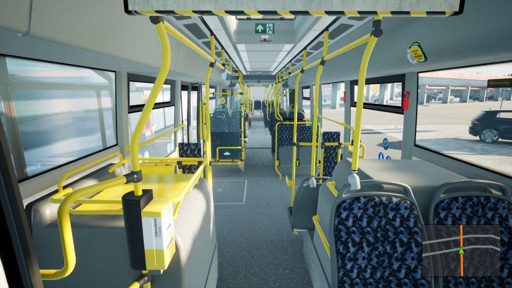 Wnętrze autobusu Scania Citywide LF 18M w The Bus