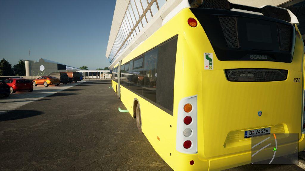 The Bus - widok na bok autobusu