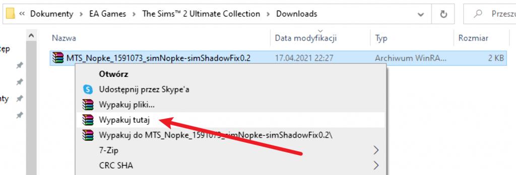 Problem z cieniami w The Sims 2