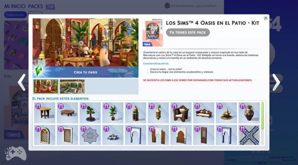 Obiekty z The Sims 4 oaza na patio