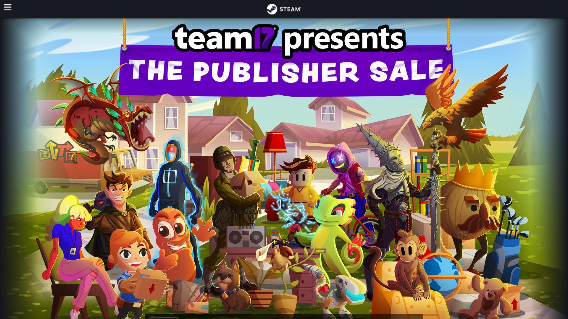 Team 17 wyprzedaż wydawcy na Steam