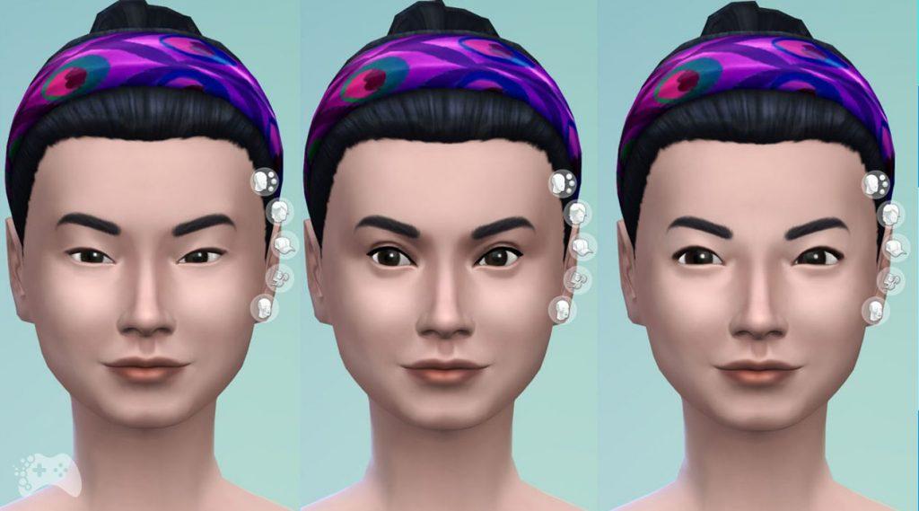 The Sims 4 aktualizacja maj 2021 azjatyckie oczy