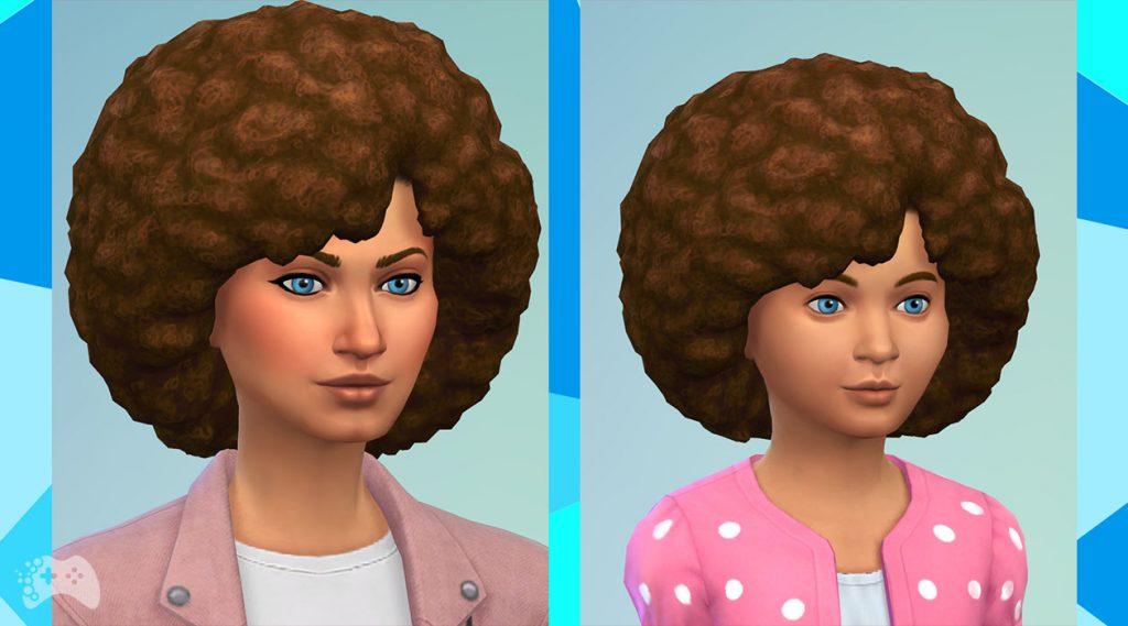 The Sims 4 aktualizacja maj 2021 duże afro nowe włosy