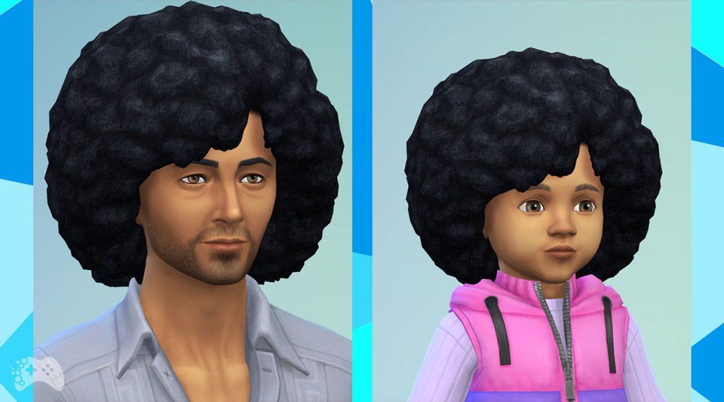 The Sims 4 aktualizacja maj 2021 nowa fryzura duże afro