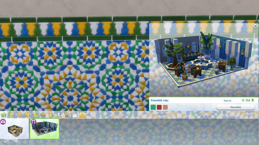 The Sims 4 oaza na patio cena