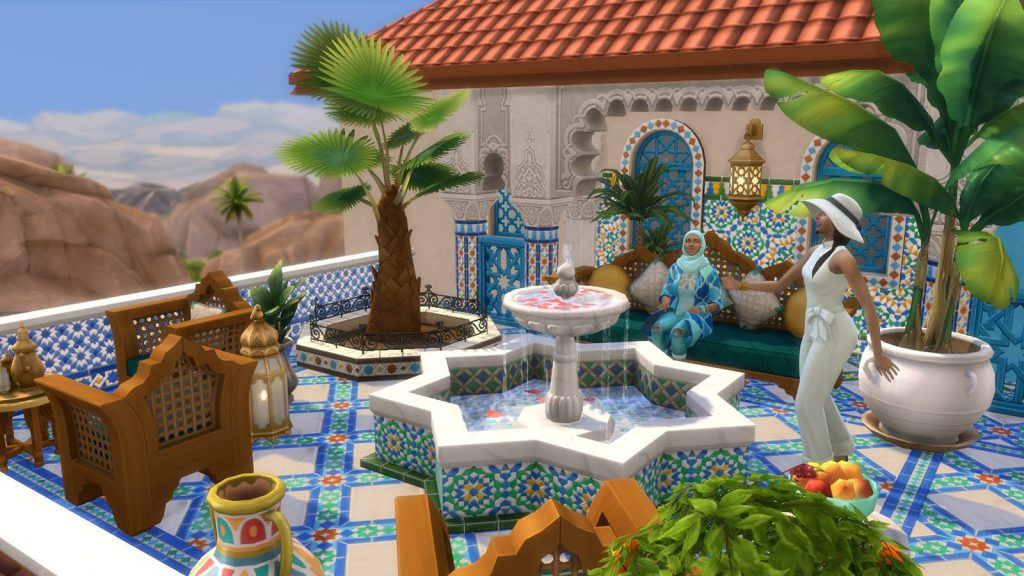 The Sims 4 oaza na patio first look