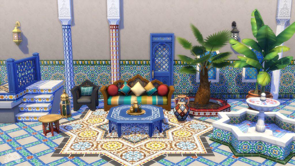 The Sims 4 oaza na patio obiekty