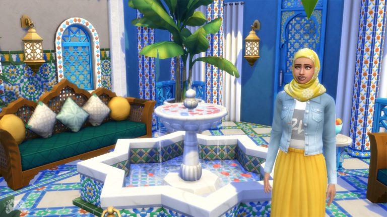 The Sims 4 oaza na patio przegląd
