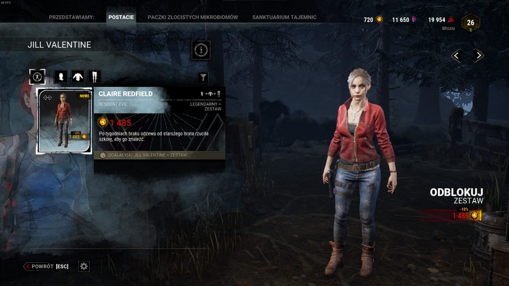Dead by Daylight Claire Redfield