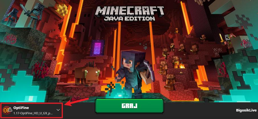 Minecraft 1.17 optifine instalacja