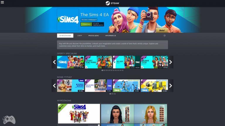 Promocja na the Sims 4 na Steam