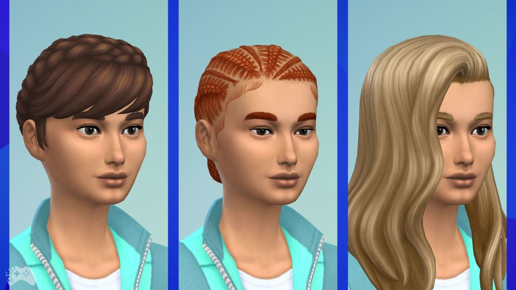 The Sims 4 Wystrój marzeń przegląd fryzur