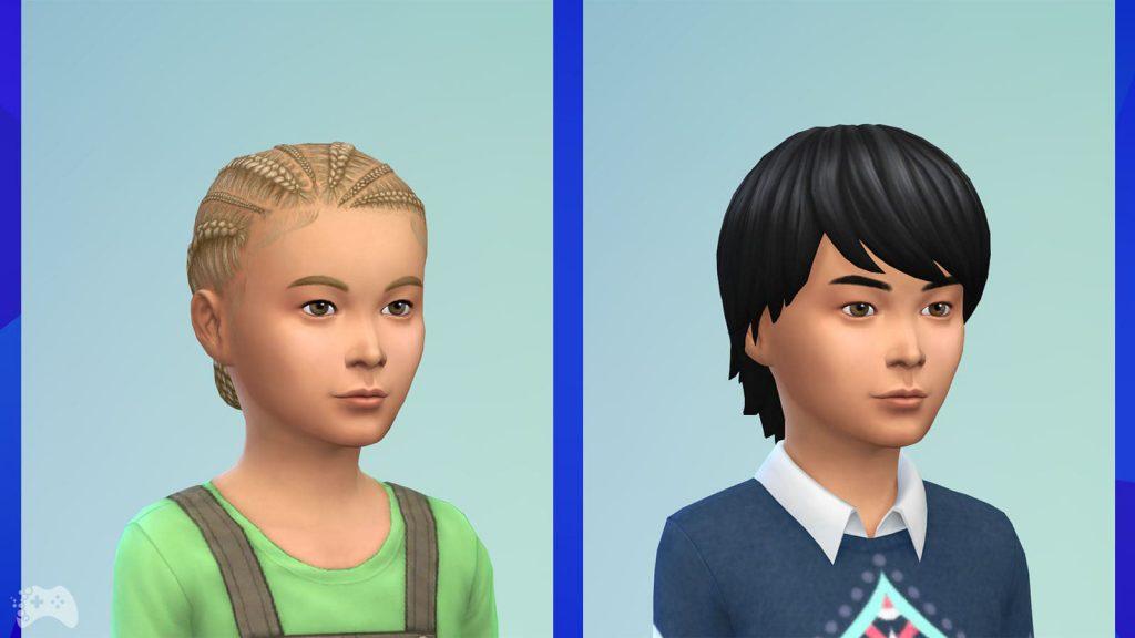 The Sims 4 Wystrój marzeń fryzury dla dzieci