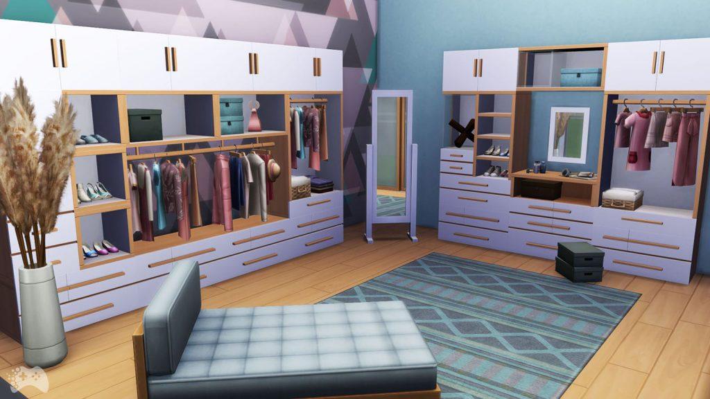 The Sims 4 Wystrój marzeń garderoba