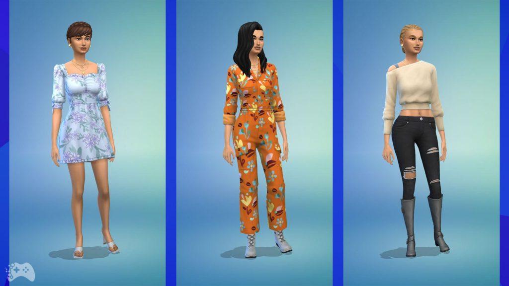 The Sims 4 Wystrój marzeń ubrania