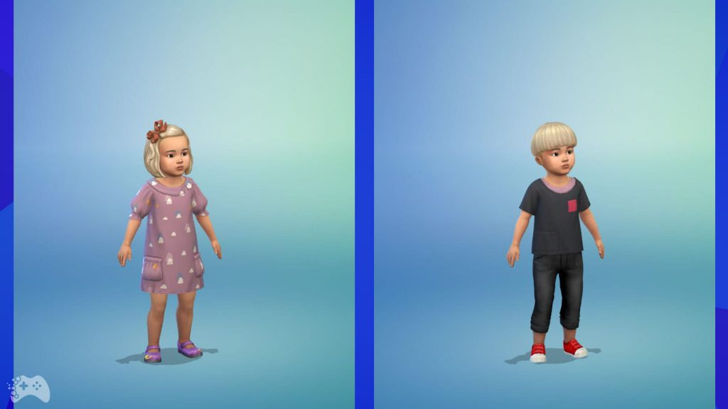 The Sims 4 Wystrój marzeń ubrania dla małych dzieci