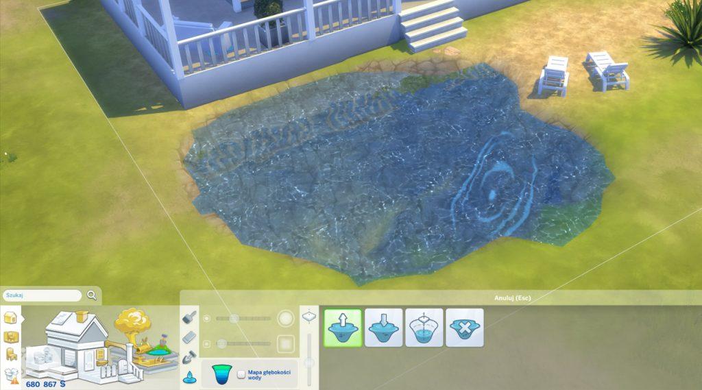 Narzędzie tworzenia stawu The Sims 4 aktualizacja