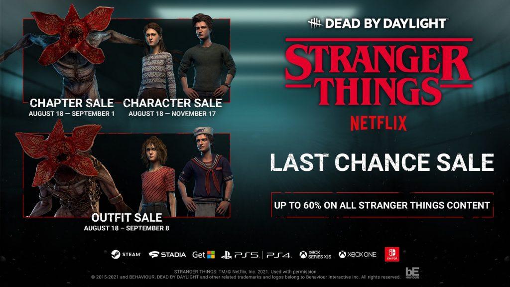 Wyprzedaż zawartości Stranger Things w Dead by Daylight