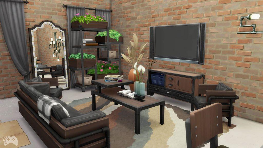 Obiekty z The Sims 4 Industrialny loft