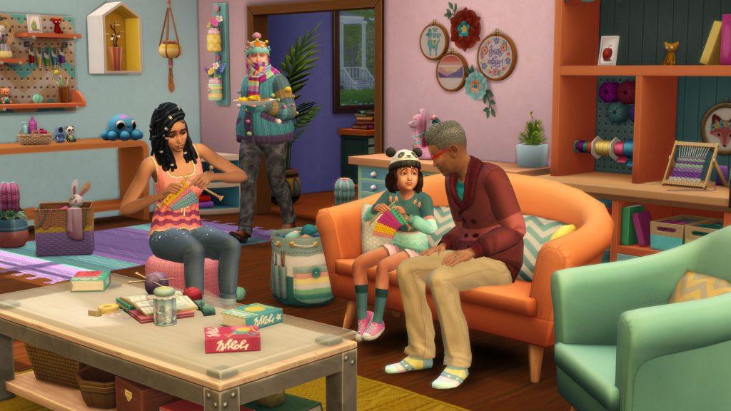 The Sims 4 Włóczkowe historie kody robienie na drutach