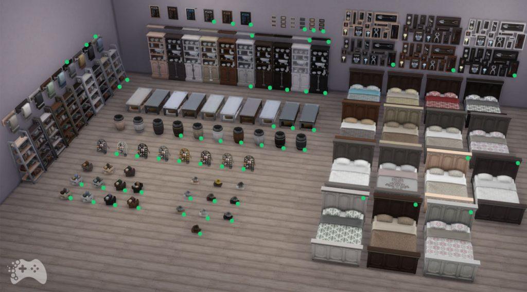 Nowe kolory mebli The Sims 4 aktualizacja