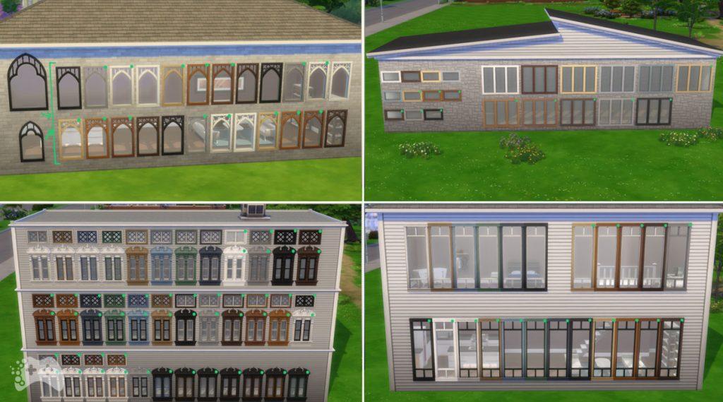 Nowe kolory okien i drzwi The Sims 4 aktualizacja