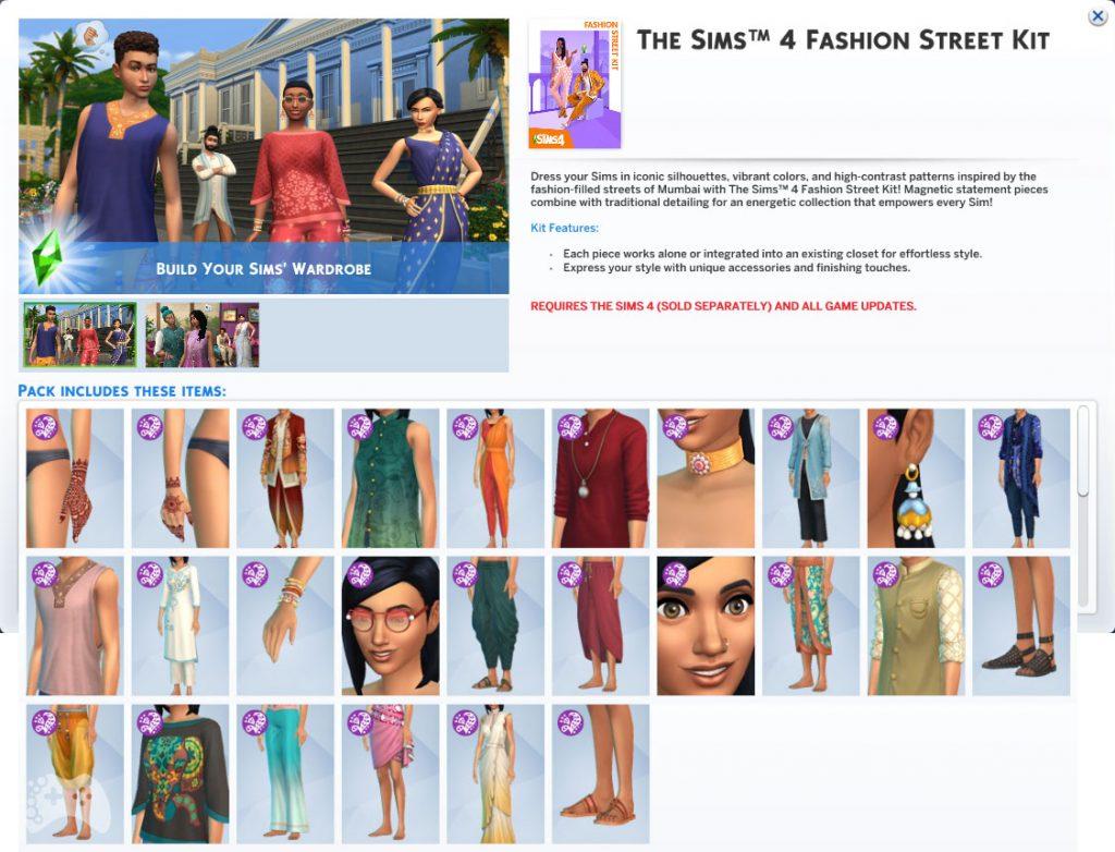 Przegląd The Sims 4 Dzielnica mody ubrania