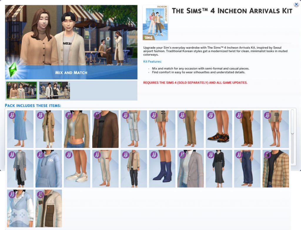 Przegląd The Sims 4 Lotniskowy szyk ubrania
