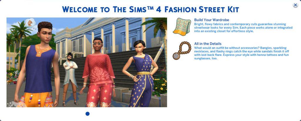 The Sims 4 Dzielnica mody Origin