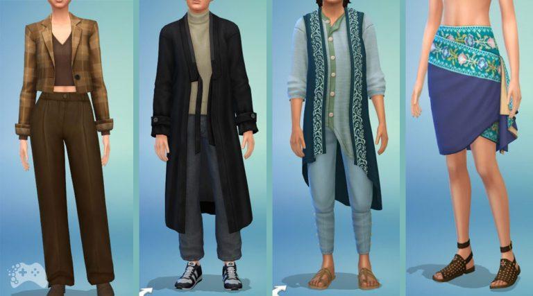 Ubrania i dodatki z The Sims 4 Dzielnica mody i Lotniskowy szyk