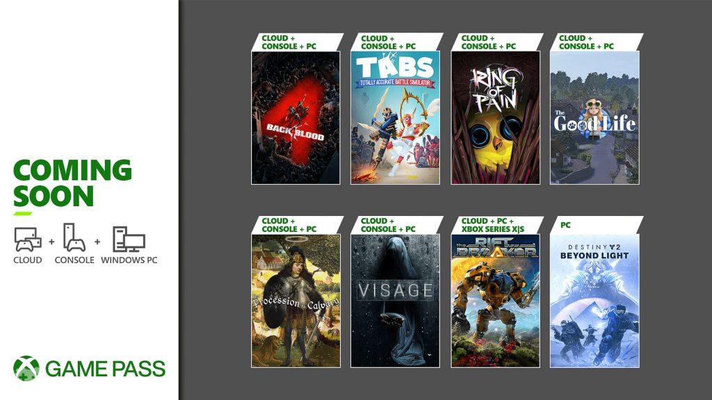 Lista gier Xbox Game Pass październik 2021