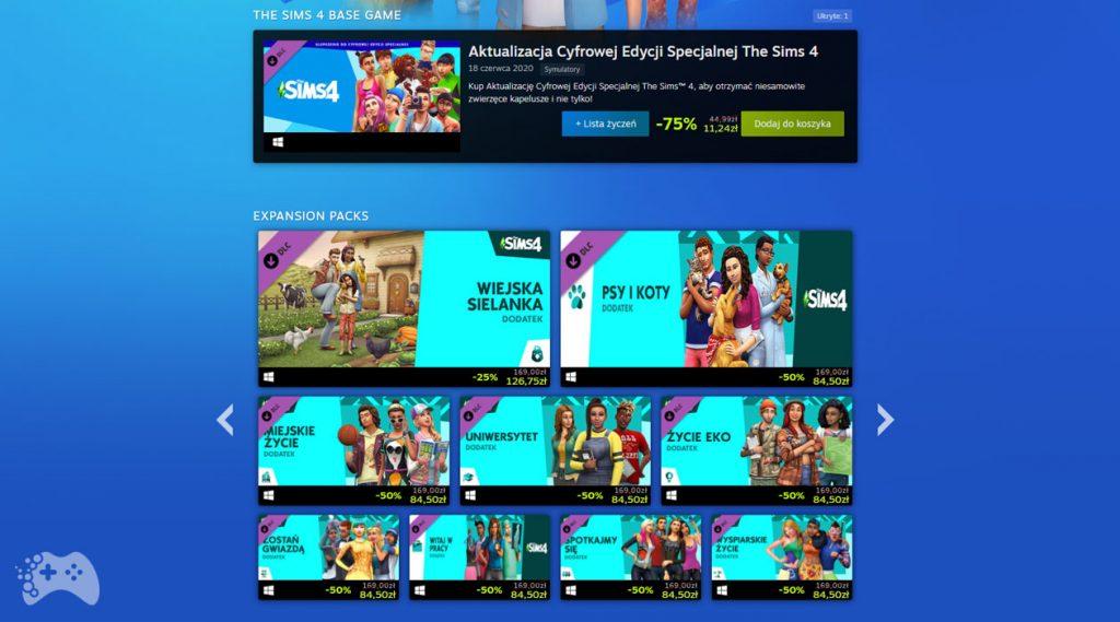 The Sims 4 w promocji na Steam
